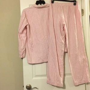 373f57cef2 Victoria s Secret Intimates   Sleepwear - Victoria s Secret Pink And White  striped Pajamas M